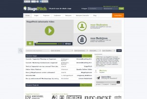 Homepage StagePitch (Stagebemiddeling site)